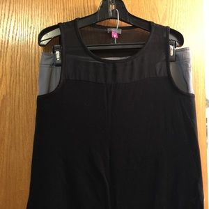 Vince Camuto Tops - Vince Camuto Black tank with sheer top and hem